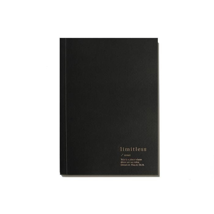 Load image into Gallery viewer, LIMITLESS BLANK NOTEBOOK - BLACK