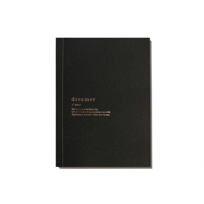 DREAMER BLANK NOTEBOOK - BLACK