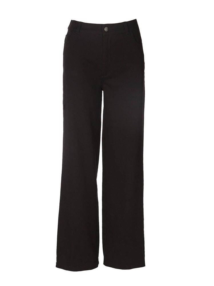 HIGH WAISTED DENIM PANT - BLACK