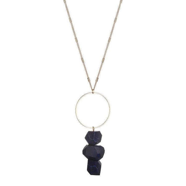 BELLA RAW QUARTZ NECKLACE - GREY