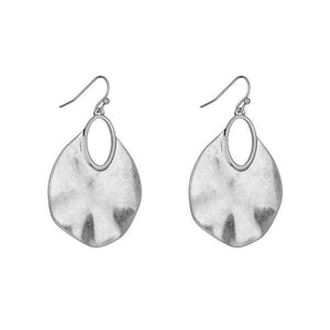EFFIE BRUSHED METAL EARRINGS - GOLD & SILVER