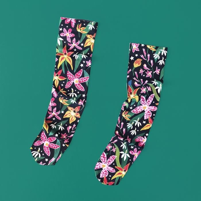 MIDNIGHT ORCHID KNEE HIGH SOCKS