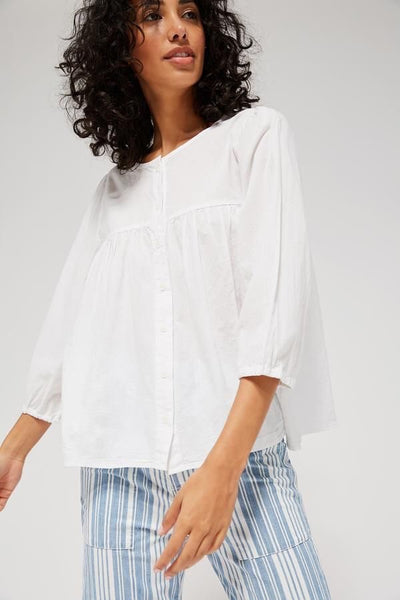 HAYDEN BLOUSE - WHITEWASH