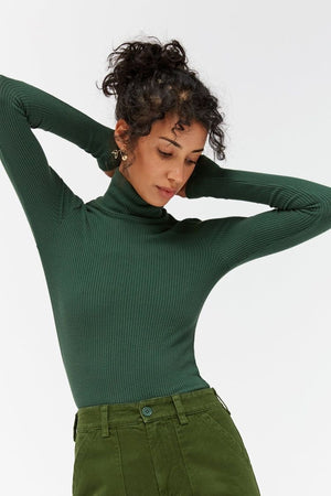 SWEATER RIB TURTLENECK - ABSYNTHE