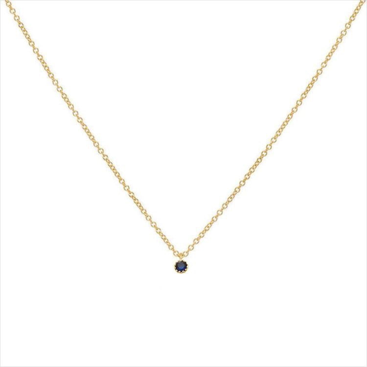 Load image into Gallery viewer, SEPTEMBER NECKLACE - SAPPHIRE
