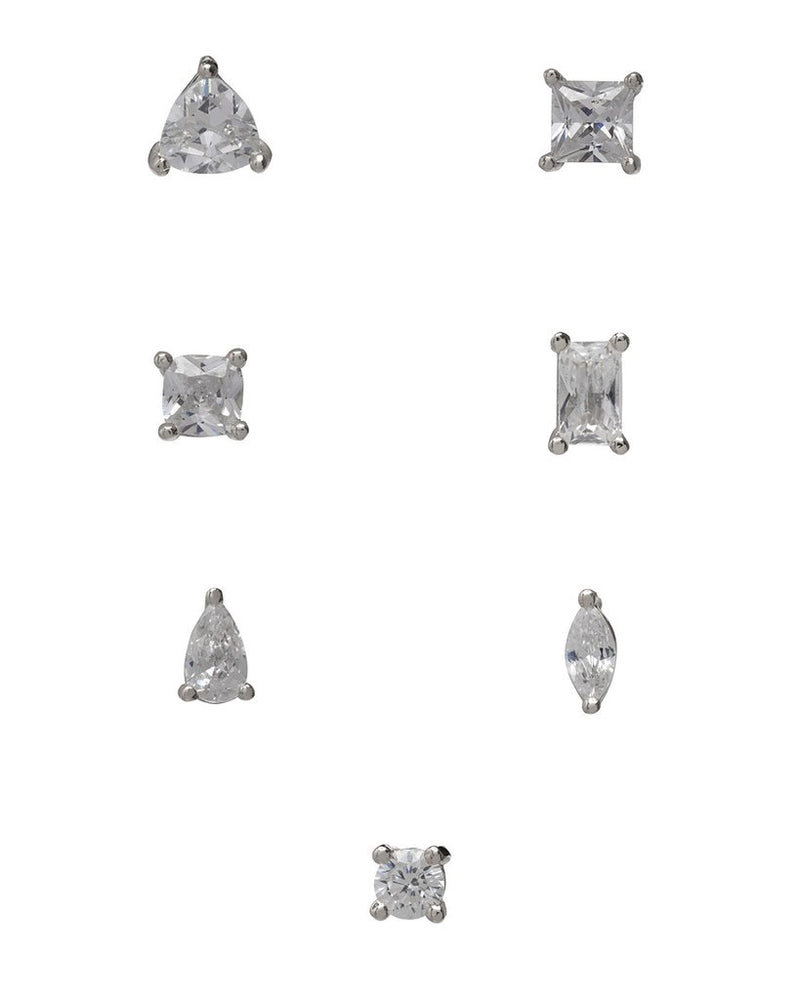 Load image into Gallery viewer, DIAMANTÉ STUDS SET - SILVER