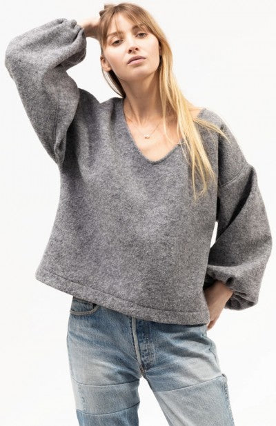 Load image into Gallery viewer, MINKA JUMPER - BOILED MERINO - GREY MARLE