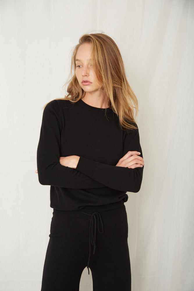 IN THE CREW LS TOP - BLACK