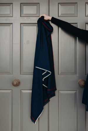 Load image into Gallery viewer, SARA SCARF - NAVY
