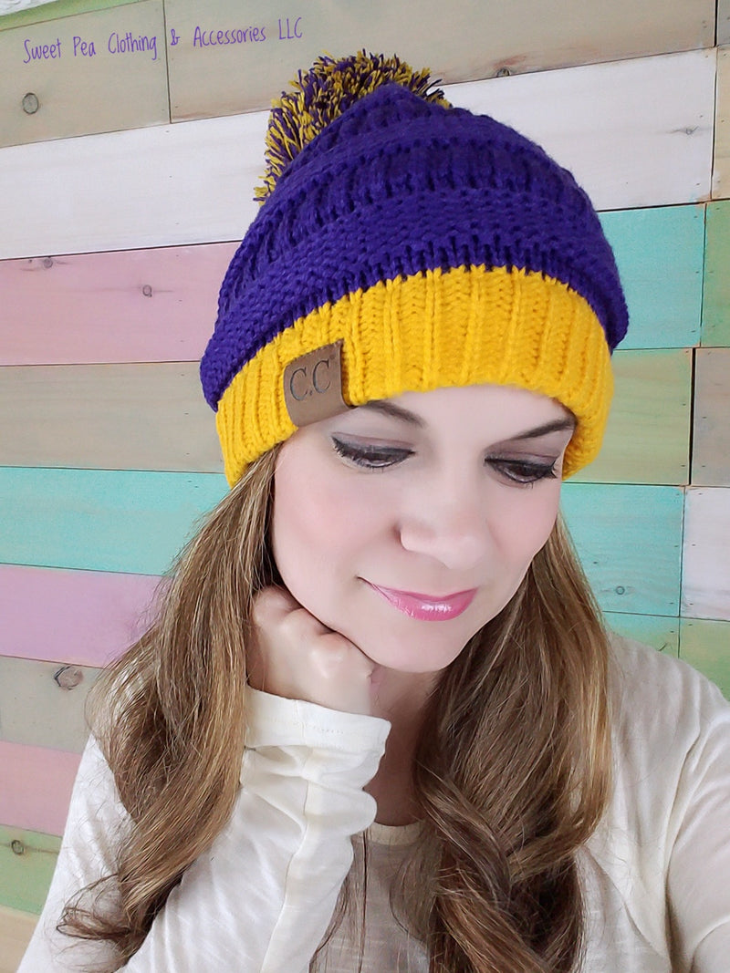 LSU Color Beanie