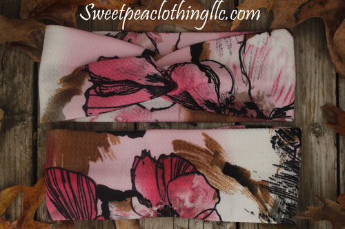 Blushing Rose Reversible Headband