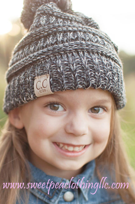 Black & White Kids Beanie