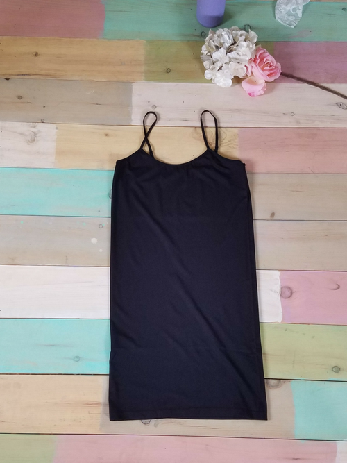 Curvy Black Cami Dress