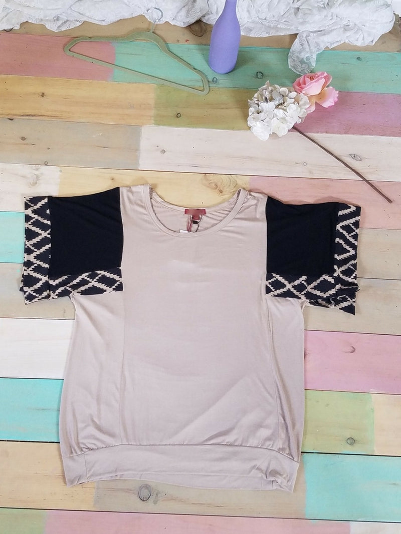 Curvy Taupe Top