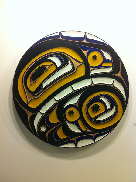 Eagle Chilkat Drum on cedar