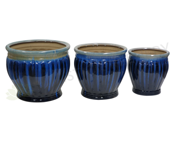 Paint Dipped Style Round - Blue (Ceramic) (Code: CER007)