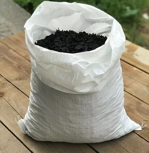 Black recycled rubber mulch 20kg bag