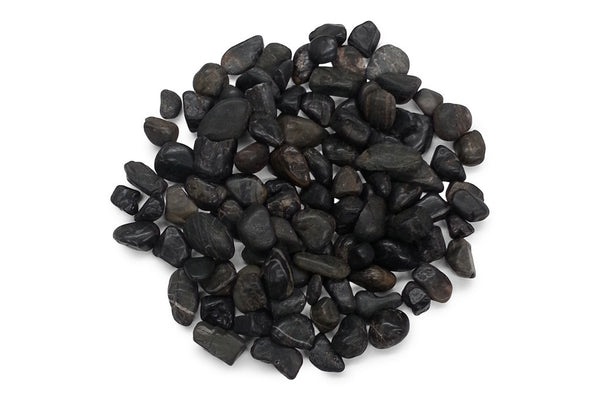 1st Grade Black Medium River Stones 15-30mm