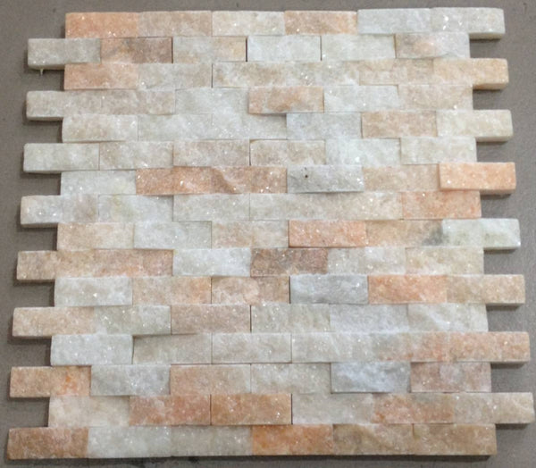 CLEARANCE - Stacked Stone Brown White & Peach (Code: WCK002)