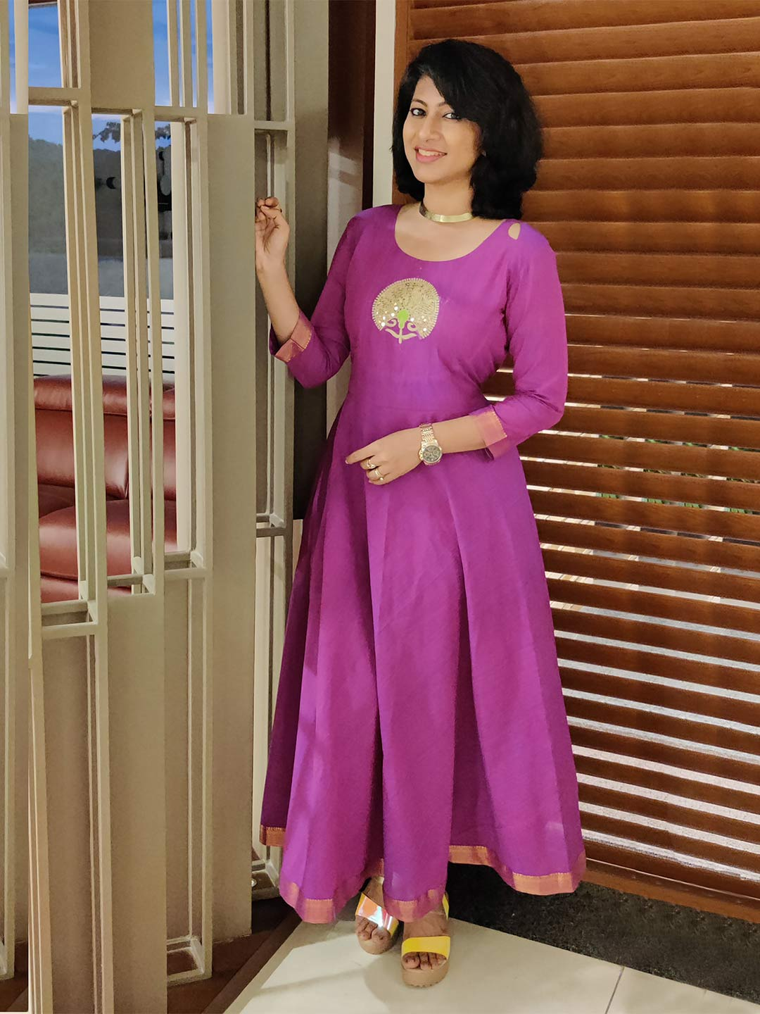Mangalgiri Kurti with Turkish Motifs
