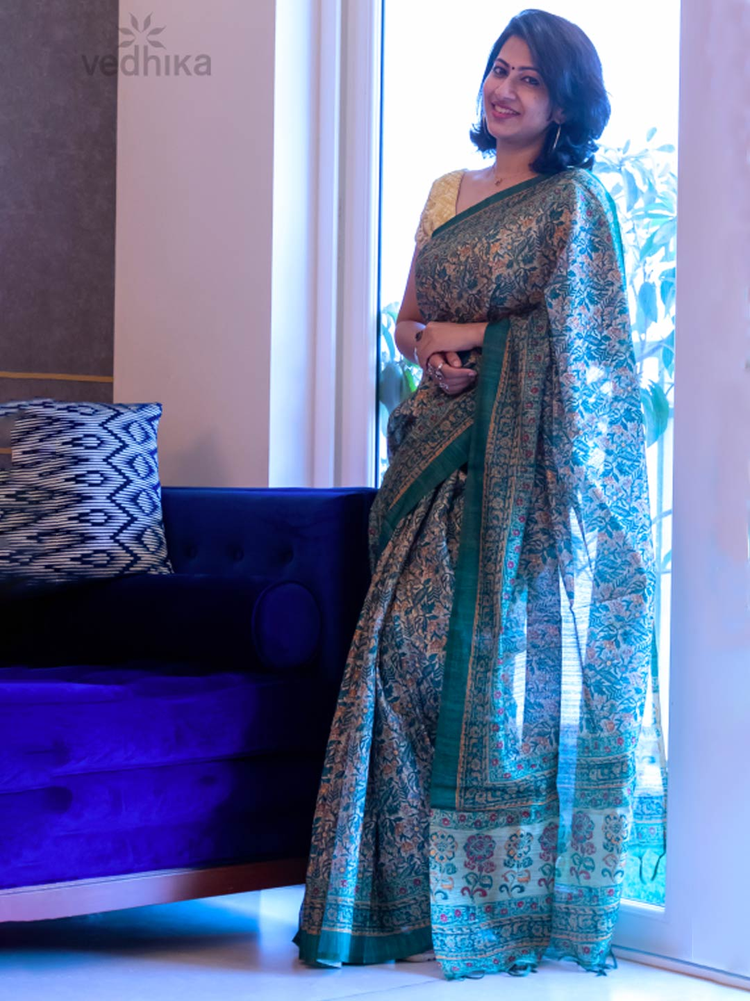 Work Wear Kalamkari Print Saree