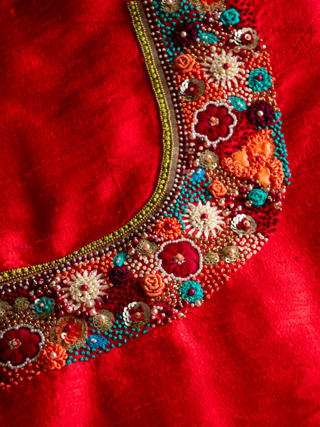 Designer Thread Worked Salwar And Dupatta
