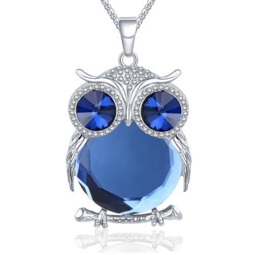 Crystal Charm Owl Necklace