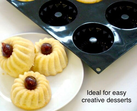 Creative Cakes Made Easy. Mini Savarin Bundt Mould 6 Hole Buy 1 Get 1 FREE.