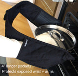 NoBurn Lined Double Oven Gloves - Prevent oven burns forever.
