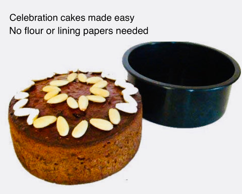 "Make Special Cakes Easy. Deep Round Cake Dish (2lb/20cm/8"")-Bakeware-WellBake"