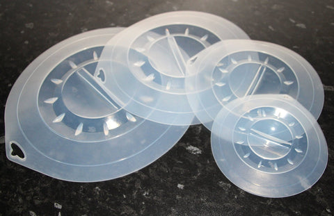 Silicone Sealing Lids 4pce Set: 30, 25, 20, 15cm - WellBake