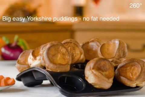 12 Bun Tray Easy Baking + Finest Yorkshire Puds without needing hot fat.
