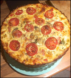 Perfect Bake And Serve Quiche, Flans And Cakes.  23cm Silicone Fluted Flan Springform with Glass Base