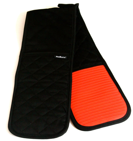 NoBurn® X-Long Double Silicone Oven Gloves - Red - WellBake