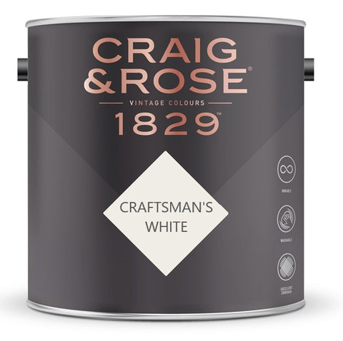 Craig & Rose 1829 Craftsman's White Tin