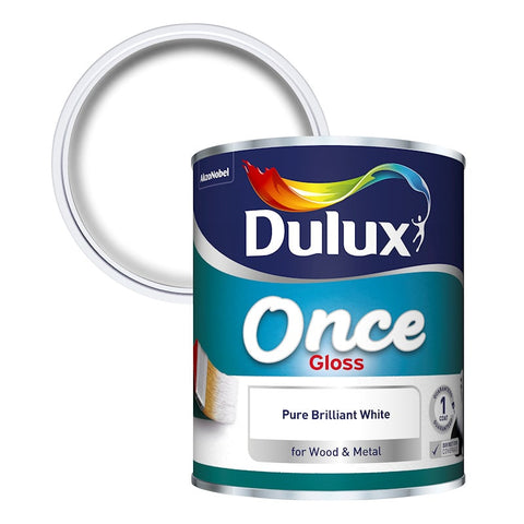 Dulux Once Gloss Pure Brilliant White