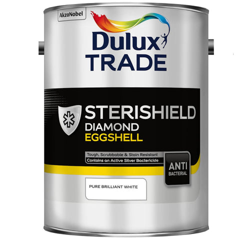 Dulux Trade Sterishield Diamond Eggshell Pure Brilliant White