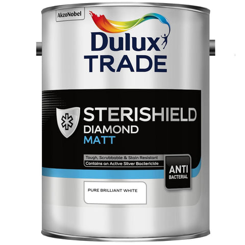 Dulux Trade Sterishield Diamond Matt Pure Brilliant White
