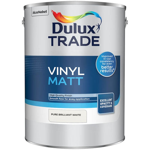 Dulux Trade Vinyl Matt Emulsion Pure Brilliant White