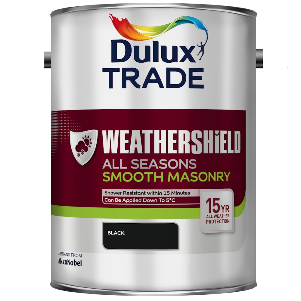 Dulux Trade Weathershield All Seasons Smooth Masonry Black