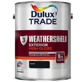 Dulux Trade Weathershield Exterior High Gloss Black
