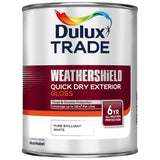 Dulux Trade Weathershield Quick Dry Exterior Gloss Pure Brilliant White