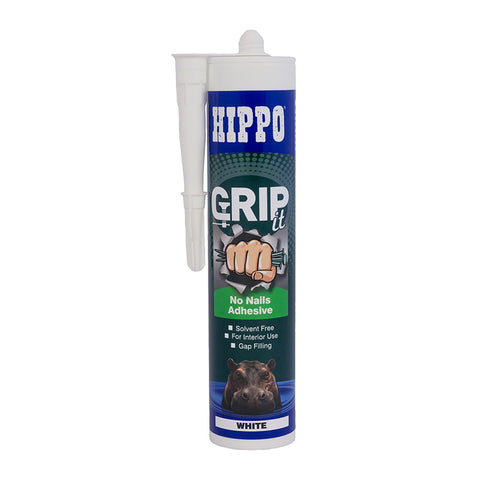 Hippo GRIPit No Nails Adhesive White