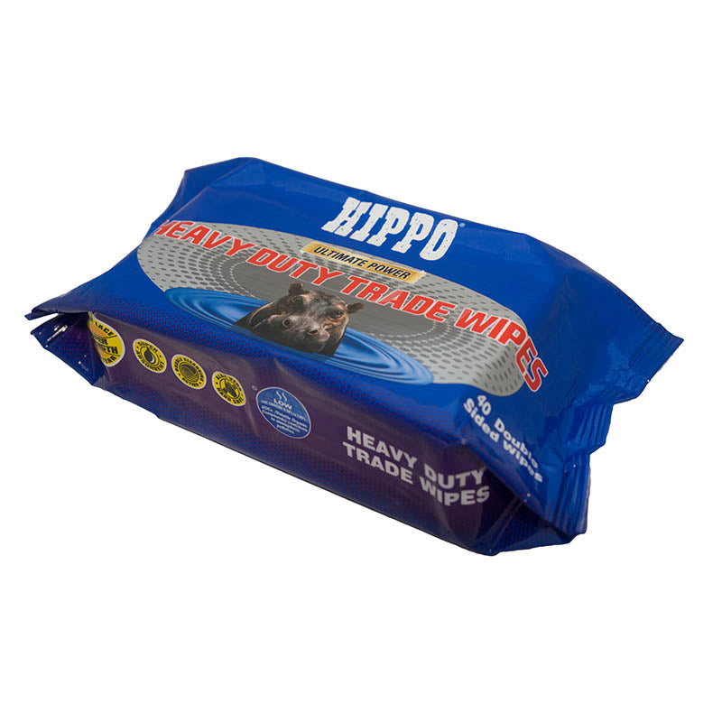 Hippo Ultimate Power Heavy Duty Trade Wipes 40 Pack