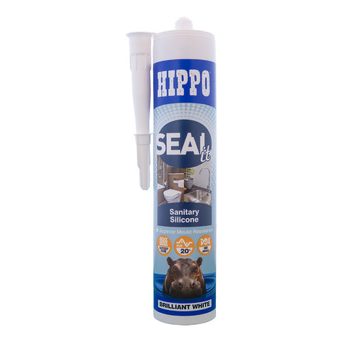 Hippo SEALit Sanitary Silicone Brilliant White