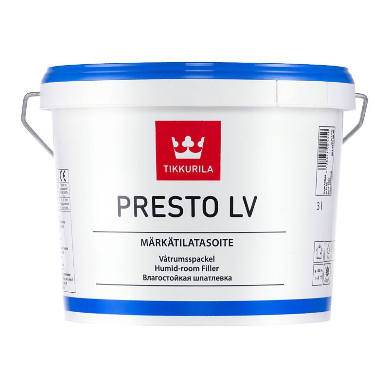 Tikkurila Presto LV White - Humid Room Filler