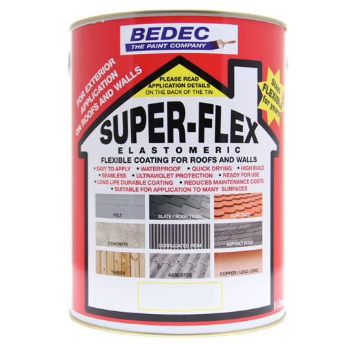 Bedec Super-Flex Elastomeric Flexible Coasting Paint - Colour Supplies (Chesham) Ltd