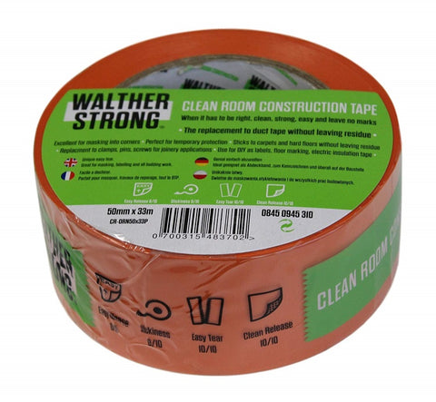 Walter Strong Cleanroom Construction Tape (50mm x 33m)