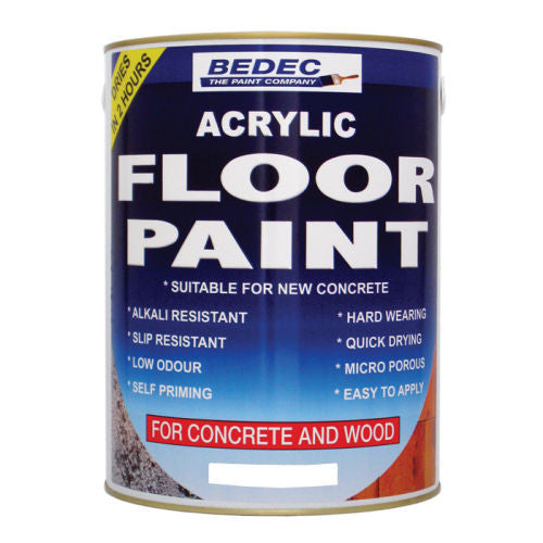 Bedec Acryic FLOOR Paint - Colour Supplies (Chesham) Ltd