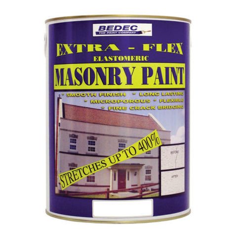 Bedec Extra-Flex Elastomeric MASONRY Paint - Colour Supplies (Chesham) Ltd